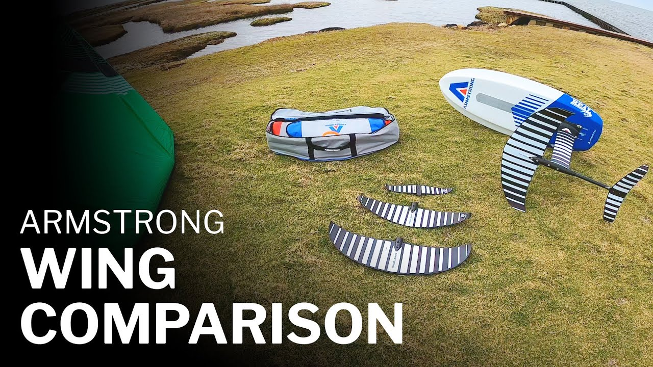 Armstrong Foil Wing Kiteboarding Test