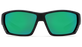 Costa Tuna Alley Sunglasses-Matte Black/Green Mirror 580G