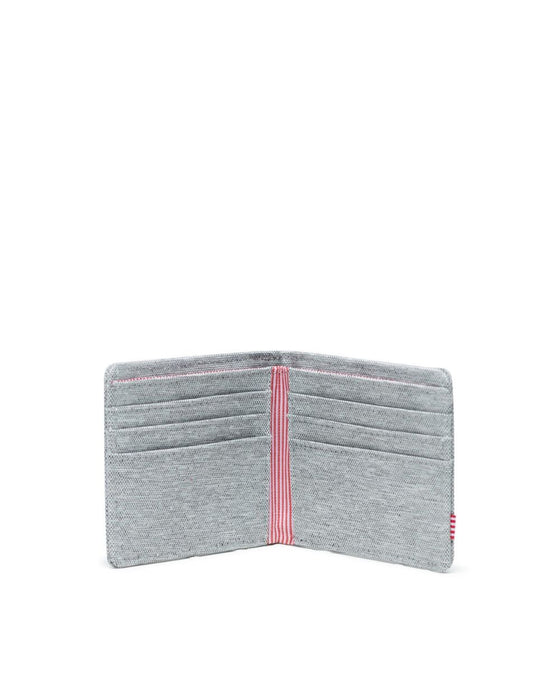 Herschel  Roy Wallet-Light Grey Crosshatch