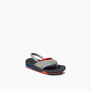 Reef Little Fanning Sandal-Red/Yellow