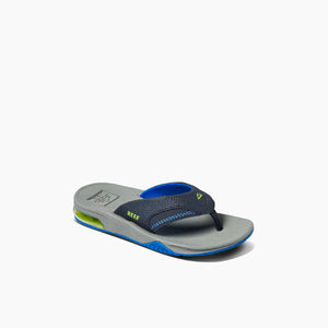 Reef Kids Fanning Sandal-Navy/Lime