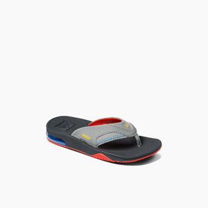 Reef Kids Fanning Sandal-Red/Yellow