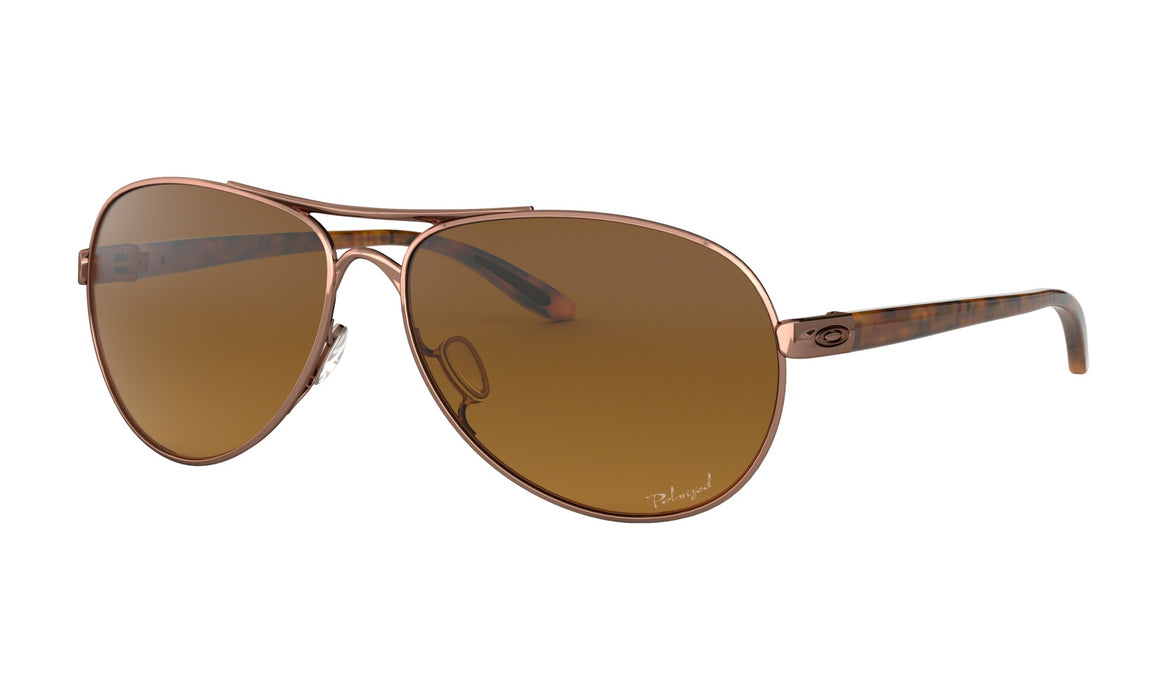 Oakley Feedback Sunglasses-Rose Gold/Vr50 Brown Gradient