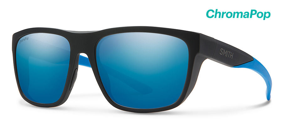 Smith Barra Sunglasses-Matte Black Blue/Chromapop Blue Polar