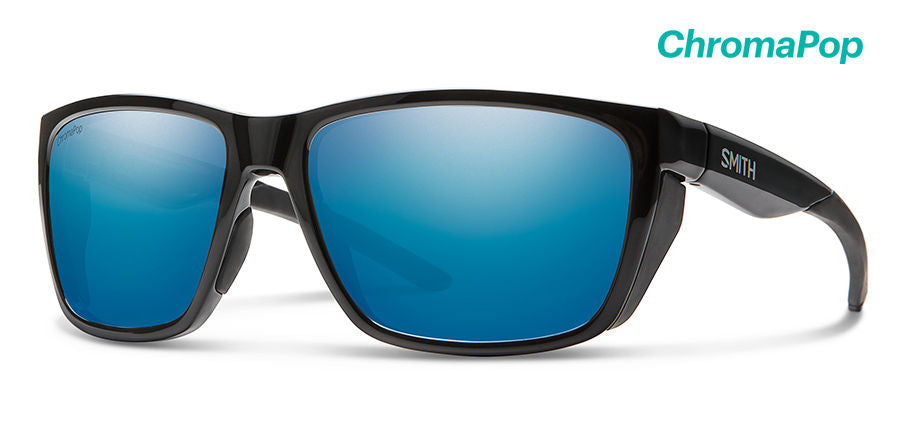 Smith Longfin Sunglasses-Black/Chromapop Blue Mirror Polar