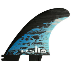 FCS II MB PC Carbon Tri/Quad Fin Set-Blue-Large