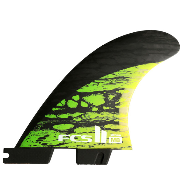 FCS II MB PC Carbon Tri Fin Set-Green-Medium