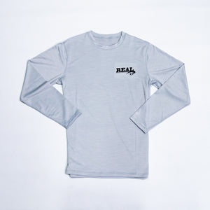 REAL Hybrid Pro L/S Rashguard-Light Grey