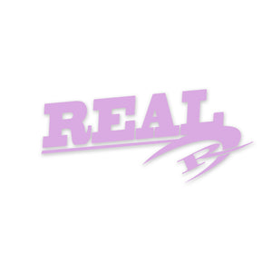 REAL Large Sticker-Purple