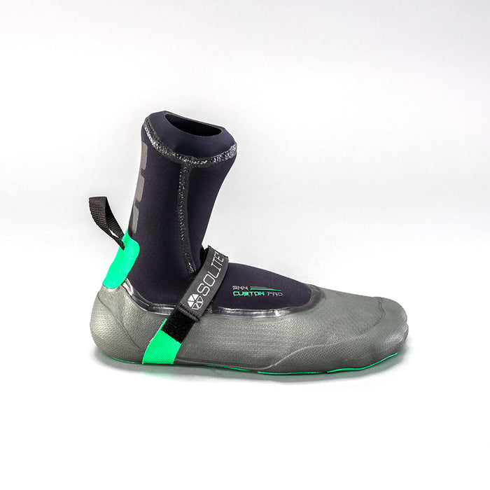 Solite Custom Pro Booties-3mm-Black/Grey/Green