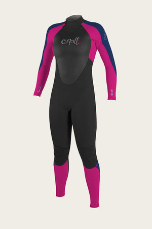 O'Neill Youth Epic 3/2 BZ Wetsuit-Black/Berry/Navy