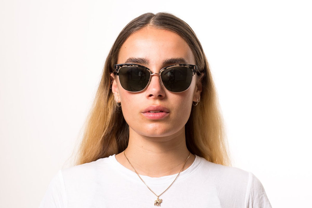 Otis Little Lies Sunglasses-Black Tort/Grey Polar