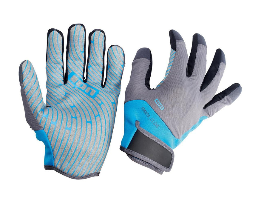 ION Amara Full Finger Gloves-Blue/Grey