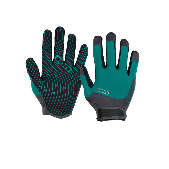 ION Amara Full Finger Gloves-Emerald/Marine