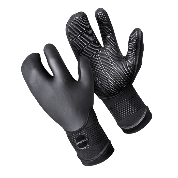 O'Neill Psycho Tech 5MM Lobster Gloves-Black