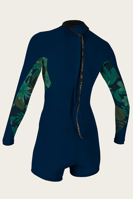 O'Neill Wmns Bahia 2/1mm BZ L/S Springsuit-Abyss/Faro/Abyss