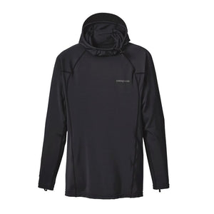 Patagonia R0 Hooded Rashguard-Black w/Forge Grey