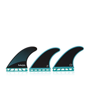 Futures R6 Legacy Tri Fin Set-Teal/Black-Medium