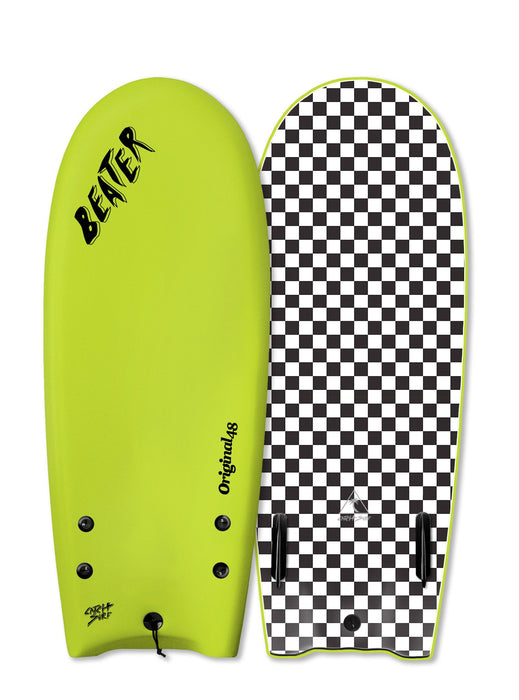 "Catch Surf Beater Twin Fin Soft Top 48""-Electric Lemon"