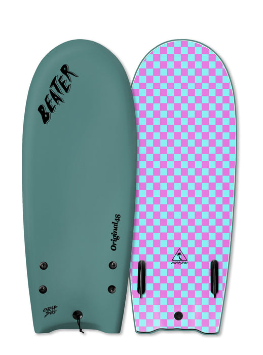 "Catch Surf Beater Twin Fin Soft Top 48""-Steel Green"