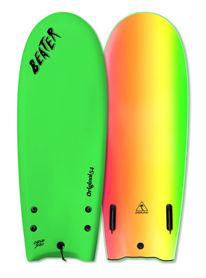 "Catch Surf Beater Twin Fin Soft Top 54""-Neon Green"