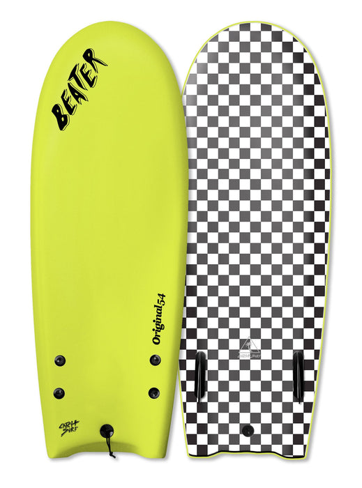 "Catch Surf Beater Twin Fin Soft Top 54""-Electric Lemon"