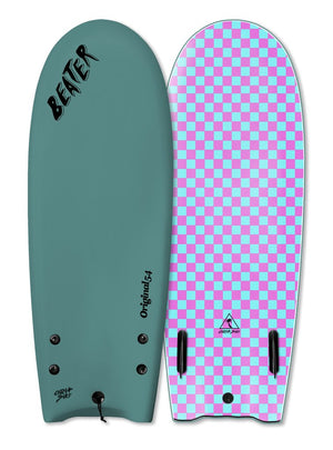 "Catch Surf Beater Twin Fin Soft Top 54""-Steel Green"