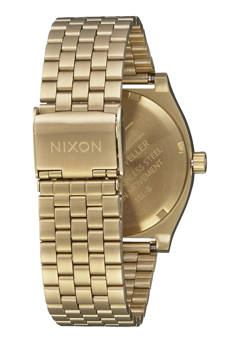 Nixon Time Teller Watch-Gold/White