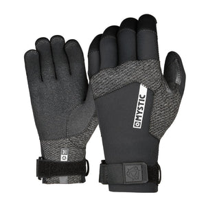 Mystic Marshall Precurved 3mm Gloves-Black
