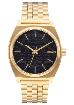 Nixon Time Teller Watch-Gold/Black/Stamped