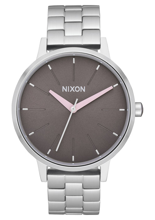 Nixon Kensington Watch-Silver/Grey/Pale Pink