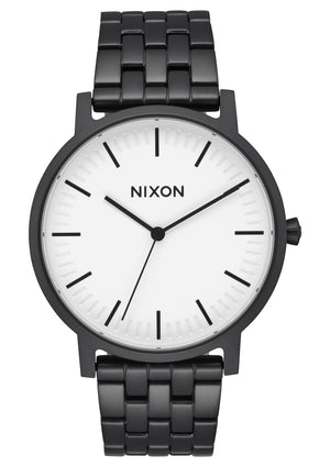 Nixon Porter Watch-Matte Black/White