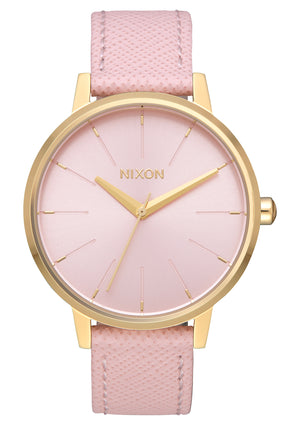 Nixon Kensington Leather  Watch-Light Gold/Pale Pink