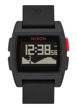 Nixon Base Tide Watch-Black/Red