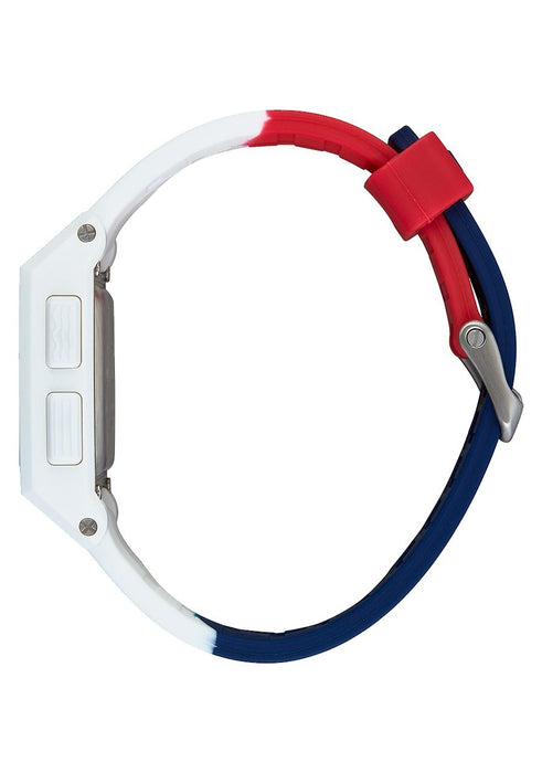 Nixon Base Tide Watch-Red/White/Blue