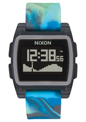Nixon Base Tide Watch-Blue Jellyfish