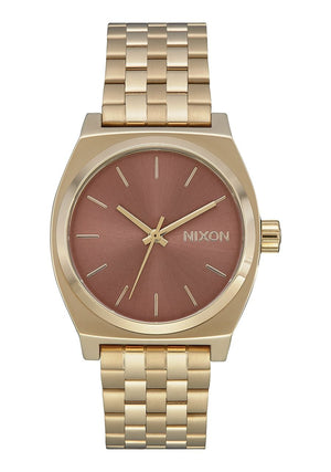 Nixon Medium Time Teller Watch-Light Gold/Marsala