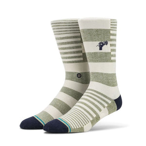 Stance Power Flower Socks-Army Green