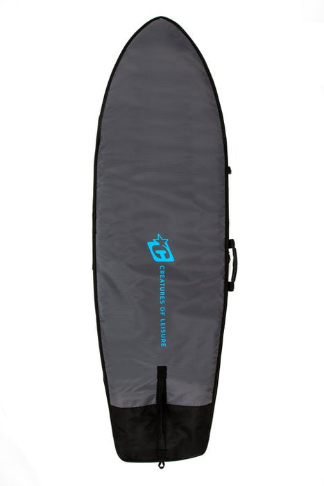 Creatures Fish Day Use Boardbag-Charcoal/Cyan
