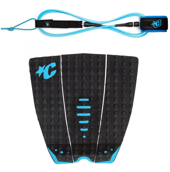 Creatures Mick Fanning Traction Pad with Comp Leash-6'
