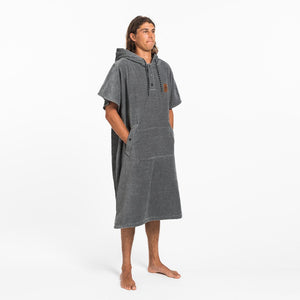 Slowtide The Digs Changing Poncho Towel-Heather Grey-LG/XL