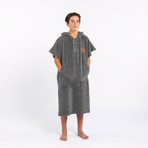 Slowtide The Digs Changing Poncho Towel-Heather Grey-SM/MD