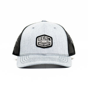 REAL Shred Supply Hat-Heather Grey/Black