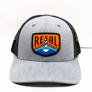 REAL Lighthouse Badge Hat-Heather Grey/Dark Charcoal