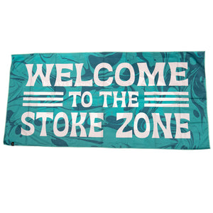Slowtide x REAL Stoke Zone Travel Towel-Turquoise