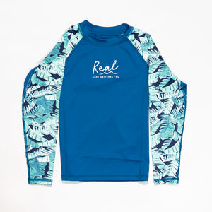 REAL Lena Girls Rashguard-Blue