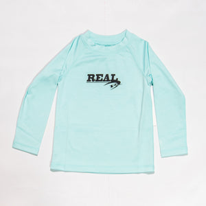REAL Hybrid Toddler Rashguard-Light Blue