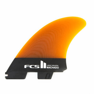 FCS Machado PG Tri Fin Set-Black-Large