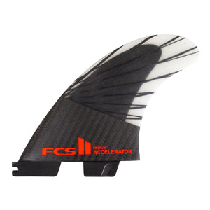 FCS Accelerator PC Carbon Tri Fin Set-Black/Red-Medium