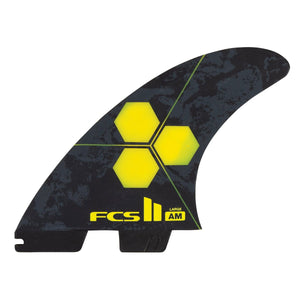 FCS Al Merrick AM PC Tri/Quad Fin Set-Yellow-Large